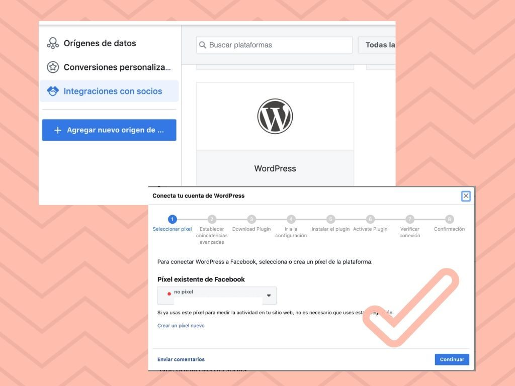 Integrar wordpress con el pixel de facebook